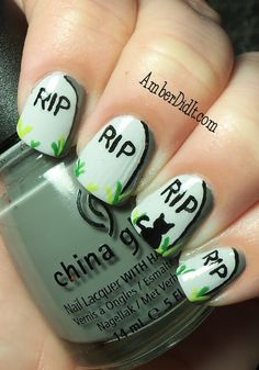 R.I.P. Halloween Nail Art Tutorial | BlogHer
