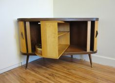 RESERVED Mid Century Revolving Bar and by RewindHomeInteriors