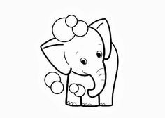 Baby Elephant Pictures Cute Elephants Coloring Page Animal