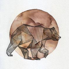 geometric line bear