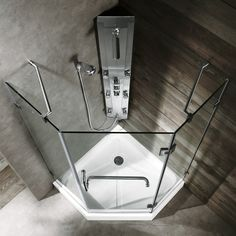 Vigo Piedmont 38 x 38-in. Frameless Neo-Angle Shower Enclosure with .375-in…