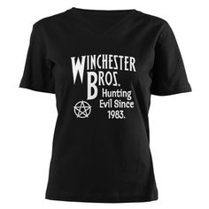Supernatural shirt!  *Gasp* omg yes! maybe in a different color sense i tend to not look good in black... im too white :(
