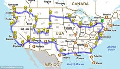 Quite the journey: Mr DeFrees drove through about 32 states