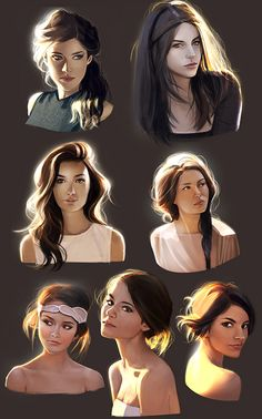 "Beautiful Girls Illustration. Hair / Belle Ragazze, Illustrazione. Capelli - Art by mannequin-atelier on deviantART, ""How to light Your bust 3"""