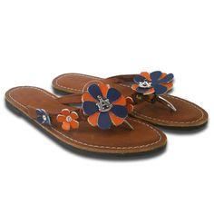 Auburn leather flower sandals