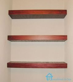 how to build floating shelves by lois
