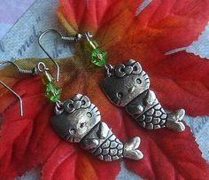 Hello Kitty mermaid earrings