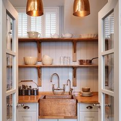 Practical utility area with a touch of glamour | Kitchen shelving ideas | Decorating | housetohome.co.uk