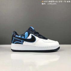new concept b1ca1 6d56d Pas Cher Nike Air Force 1 Low Greyish White blanc Iron Blue Black Noir  Youth Big