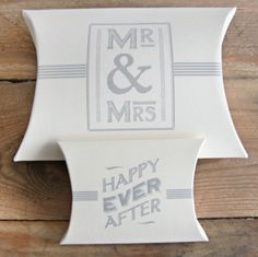 Caja Mr & Mrs y caja Happy Ever After. Se venden en: www.mrwonderfulshop.es #caja #kraft #DIY