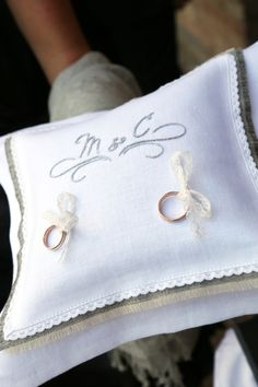 Ring Bearer Pillow ~ Embroidered