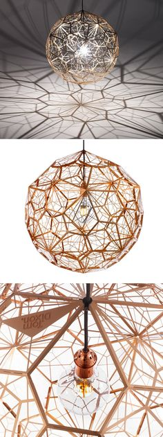 Tom Dixon's Etch Web lamp is totally stunning, in fact almost as beautiful as the shadows that it creates.