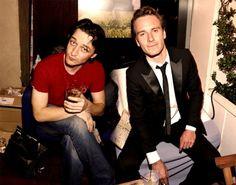 James McAvoy and Michael Fassbender.  MUAH!