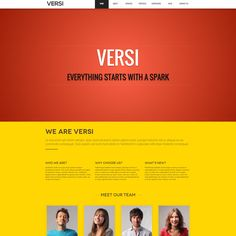 Versi One Page WordPress theme | Best WordPress Themes 2013
