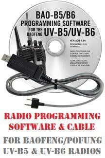 V BESTLIFE Multi-Function 8-in-1 Programming Cable with Programming Software for Motorola for Icom Two-Way Radio
