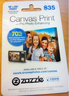 Enter to win a Zazzle Canvas voucher (valued at $119). Ends 12/16 at 9 p.m. pST