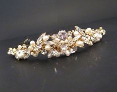 Gold Wedding tiara Bridal rhinestone and by TheExquisiteBride
