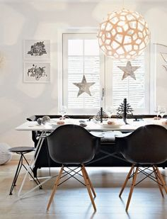 A danish home decked out for Christmas