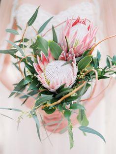 Protea bouquet - Rachel Solomon Photography Blog   Arizona Weddings Magazine – Spring Romance – Part 2   http://blog.rachel-solomon.com