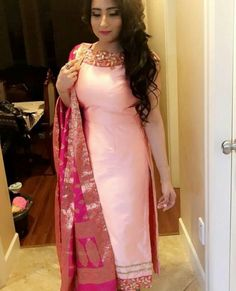 The latest dress trends for the latest new fashion trends, outfit ideas, celebrity style, designer news and runway looks. Punjabi Suits Designer Boutique, Indian Designer Suits, Indian Suits, Indian Wear, Punjabi Suit Boutique, Boutique Suits, Indian Attire, Latest Punjabi Suits, Punjabi Suits Party Wear