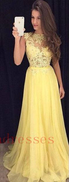 #YELLOW #CHIFFON #prom #party #evening #dress #dresses #gowns #cocktaildress #EveningDresses #promdresses #sweetheartdress #partydresses #QuinceaneraDresses #celebritydresses #2016PartyDresses #2016WeddingGowns #2017HomecomingDresses #LongPromGowns #blackPromDress #AppliquesPromDresses #CustomPromDresses #backless #sexy #mermaid #LongDresses #Fashion #Elegant #Luxury #Homecoming #CapSleeve #Handmade #beading