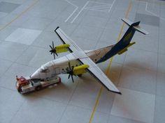 Dornier Do 328-100 Free Airplane Paper Model Download - http://www.papercraftsquare.com/dornier-do-328-100-free-airplane-paper-model-download.html