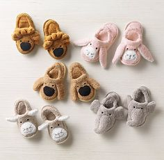 These animal bath slippers are cozy for bath time.