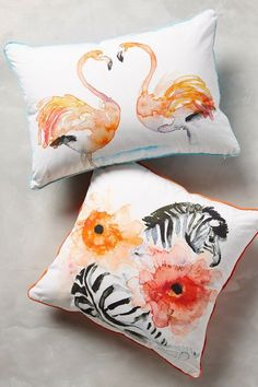 Watercolor Zoology Pillow - anthropologie.com #anthrofave