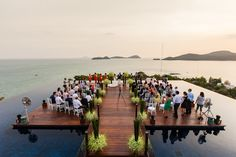 What an incredible wedding location! Sri Panwa - Phuket, Thailand, photo by Julian Wainwright Weddings | via junebugweddings.com