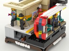 Lego Train Station, Lego London, Lego Trains, Modern City, New City, Living Room Bedroom, Something To Do, Projects, Log Projects