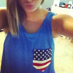 American Flag Tank by CustomizedPocketTees on Etsy