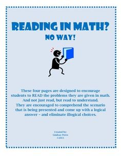 Do you struggle with students who do not read problems thoroughly, or take time to comprehend what they read in your math classroom