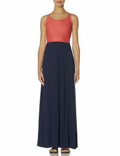 Textured Bodice Maxi Dress from THELIMITED.com