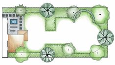 Rectangular Garden Design Photograph 53427 | Rectangular Garden Urban Garden Design, Garden Inspiration, Design Inspiration, Garden Ideas, Pumpkin Arrangements, Architecture Concept Drawings, How To Attract Hummingbirds, Landscape Drawings, Contemporary Landscape