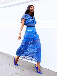 20c41c43b09 Natasha Ndlovu of Bisous Natasha stunning in cobalt blue head to toe Pretty  Summer Dresses