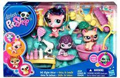 Littlest Pet Shop Themed Playpack - Pet Styles Salon - Lps Littlest Pet Shop, Little Pet Shop Toys, Lps Playsets, Lps For Sale, Lps Dog, Custom Lps, Lps Sets, Little Live Pets, Lps Accessories
