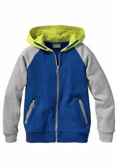 Produkttyp , Sweatjacke, |Qualitätshinweise , Hautfreundlich Schadstoffgeprüft, |Materialzusammensetzung , Obermaterial: 100% Baumwolle, |Material , Sweat, |Cotton made in Africa , Mit dem Kauf unterstützen Sie den nachhaltigen Baumwollanbau, |Farbe , Royalblau-Grau-Gelb, |Passform , Basic-Form, |Schnittform/Länge , gerade, |Ausschnitt , Kapuze, |Kapuze , gefüttert, |Verschlussart , Reißverschl...