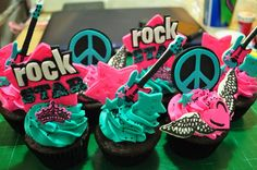 Rock Star Cupcakes by Flibby's Cupcakes