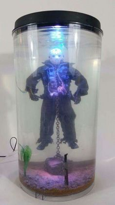 know what im recreating ...Jason Voorhees fish tank, too cool!