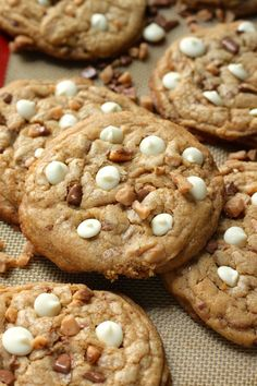 White Chocolate Toffee Brown Butter Cookies