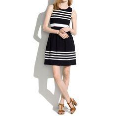 Afternoon Dress in Saltwater Stripe