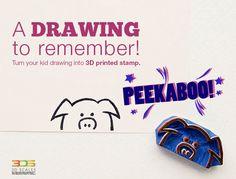 Peekaboo!! #3Dscales #3Dprinting #stamp #kids #drawing