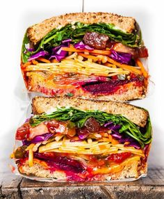 Rainbow Veggie Sandwich recipe The Feedfeed Rainbow Veggie Sandwich recipe The Feedfeed Nicola Walsh nickyphoto CURRENT PROJECT This Veggie Sandwich by gianna ciaramello consists of romaine spinach arugula nbsp hellip Cheese shredded Lunch Recipes, Vegetarian Recipes, Cooking Recipes, Healthy Recipes, Vegan Sandwich Recipes, Vegan Sandwiches, Veggie Sandwich, Snacks Saludables, Good Food
