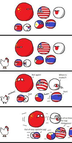 เมื่อไข้หวัดนกระบาด History Jokes, History Facts, Capitalist Pig, Humans Meme, Chinese Cartoon, Country Art, Funny Comics, Hetalia, The Funny
