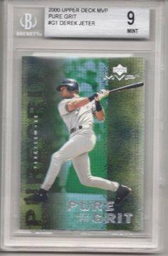 2000 Upper Deck MVP Pure Grit #G1 Derek Jeter Baseball Card Beckett Graded 9MINT . $24.99. Graded Derek Jeter Baseball Card, 9 MINT. Graded by Beckett. In clear protective case.