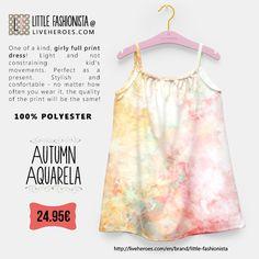 #watercolor #aquarela #autumn #fallseason #seasonal #grunge #abstract #painting #textured #textures #fashion #colorful #stylish #girldress #summerdress #girl #liveheroes #liveheroeshop #littlefashionista