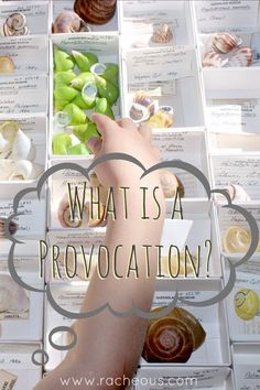 What is a Provocation?   Reggio Inspired Learning - Racheous - Lovable Learning