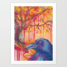 Seasons: Fall  A4, oil pastels