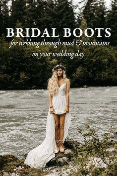 Don't get cold feet! Check out these pairs of bridal boots for trekking through the mud and mountains on your wedding day!