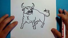 como dibujar un toro - YouTube